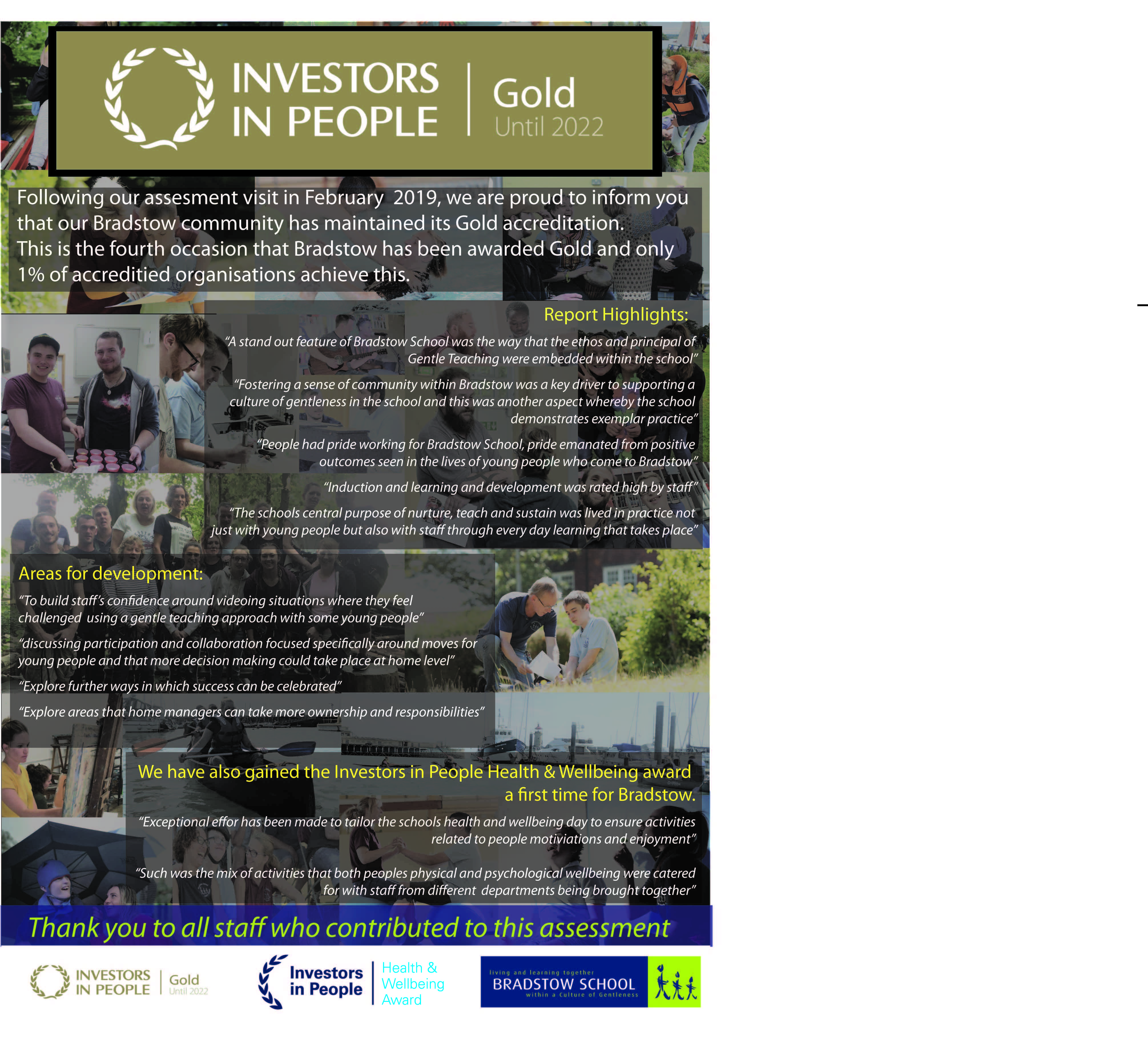 Investors In People Gold Standard awarded
